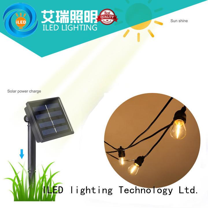 ILED solar weatherproof festoon lighting supplier for pergola