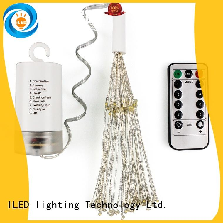 ILED powered battery string light supplier for wedding