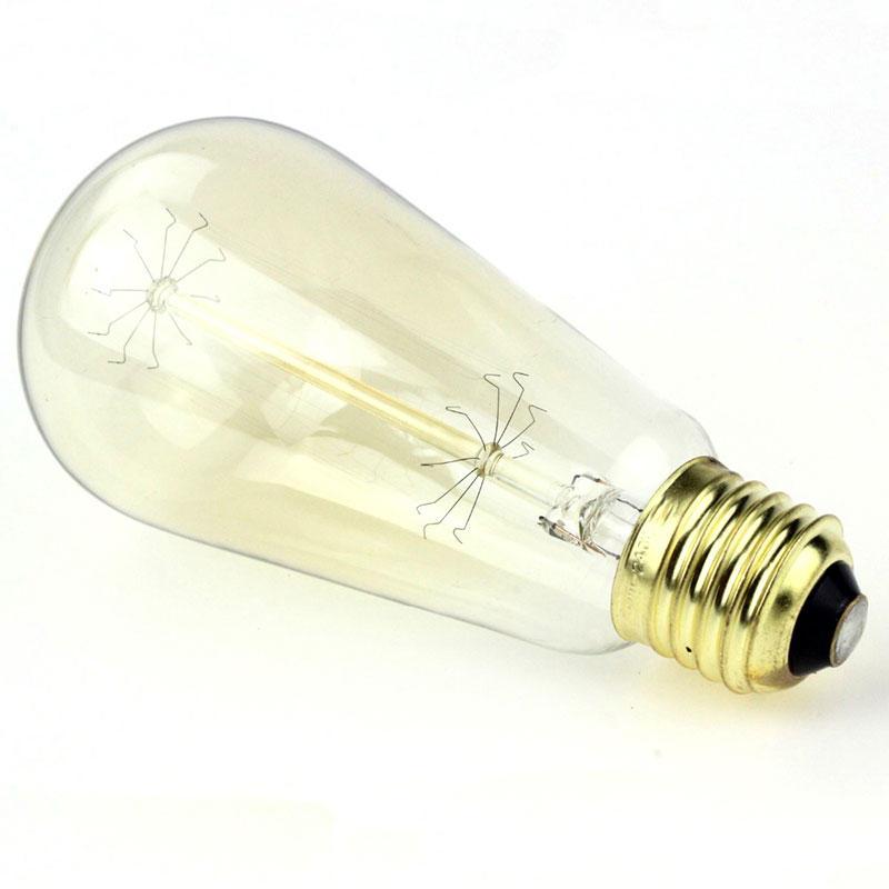 Edison ST64 Light Bulb 25W 2700K E27 Lamp Base