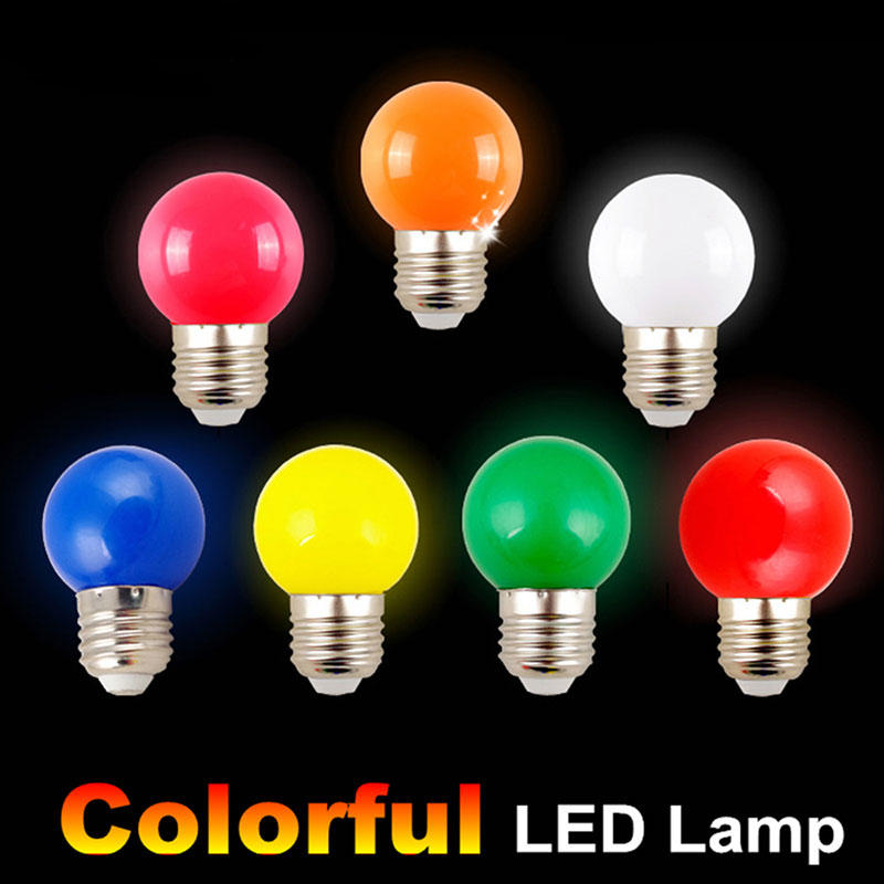 G45 LED E27 Light Bulb 1W 2700K Festival Wedding Party Decor