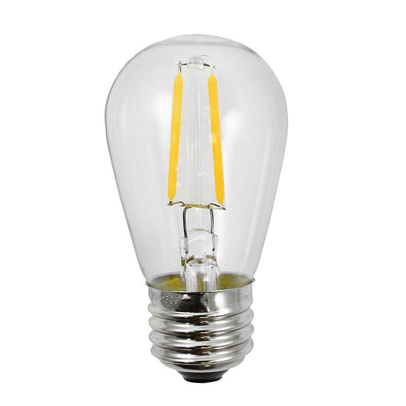 S14 LED Clear Light Bulb 2W 2700K E27