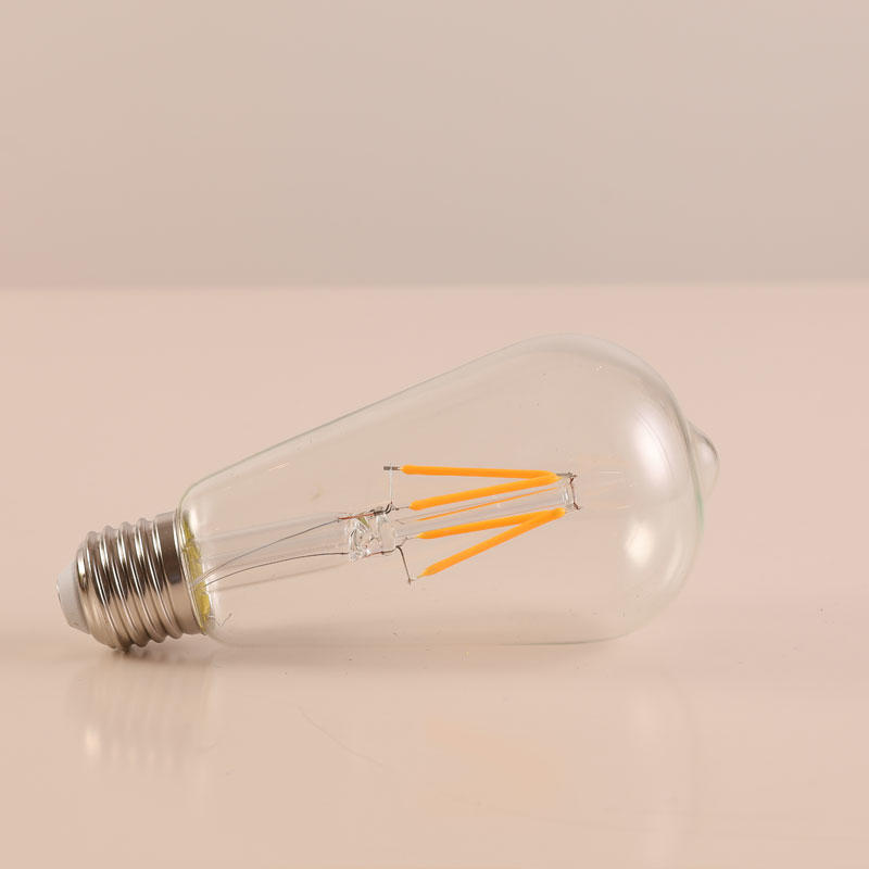 ST64 LED Light Bulb 4W 2700K E27 Lamp Base