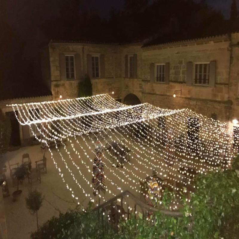 Wedding Company from France,hanged our led rubber string lights for the weddings.