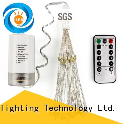 ILED operated battery wire lights supplier for decoration