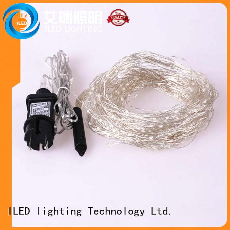 ILED plug in copper wire lights lamp for weddings