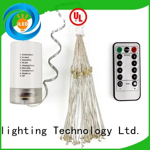 ILED waterproof battery operated wire lights lamp for wedding