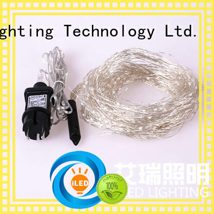 ILED white plug in copper wire lights manufacturer for christmas