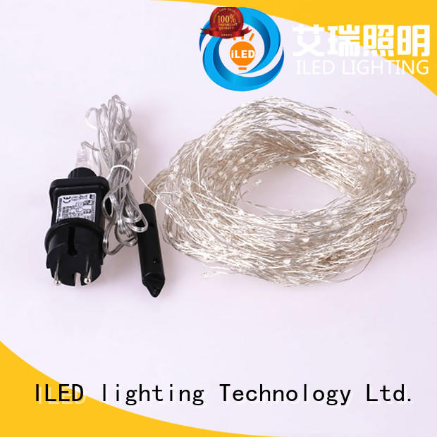 ILED operated plug in twinkle lights supplier for christmas