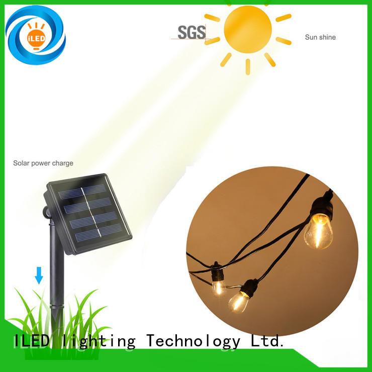 string solar festoon lights supplier for pergola ILED