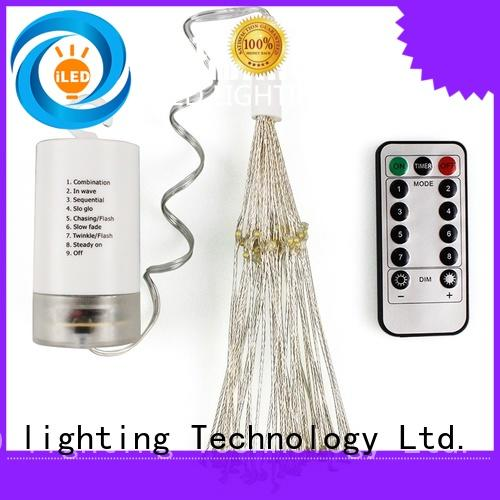 ILED battery operated outdoor christmas lights supplier for wedding
