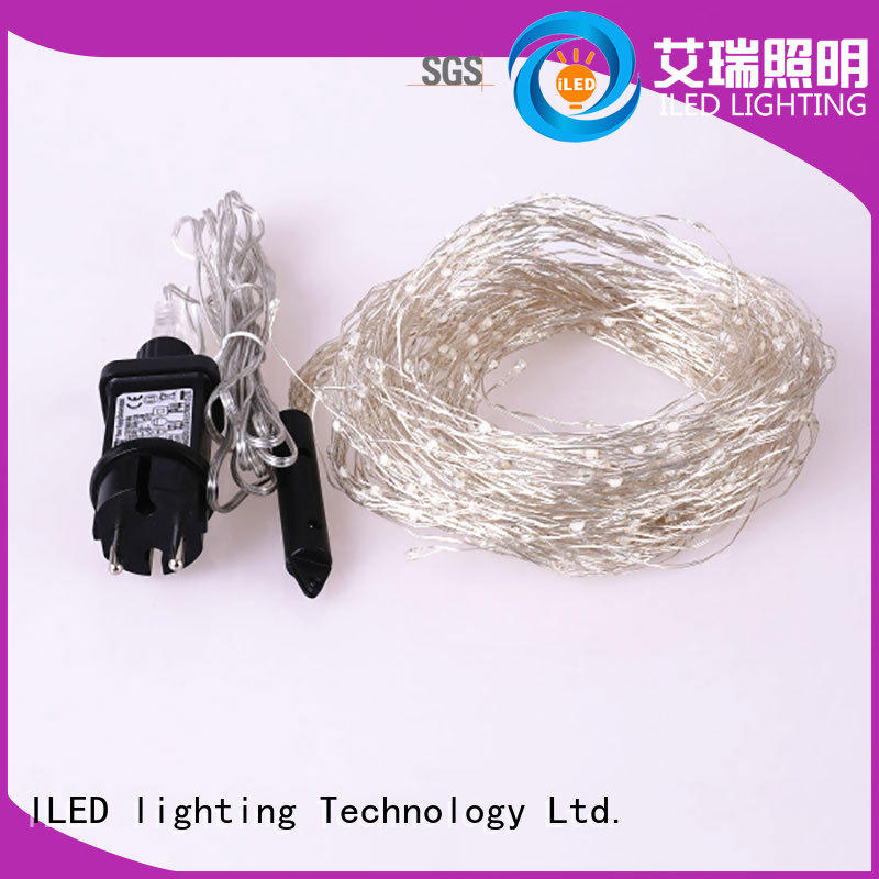white plug in wire fairy lights lamp for weddings