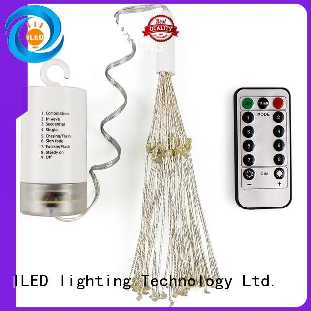 ILED battery operated outdoor christmas lights supplier for decoration