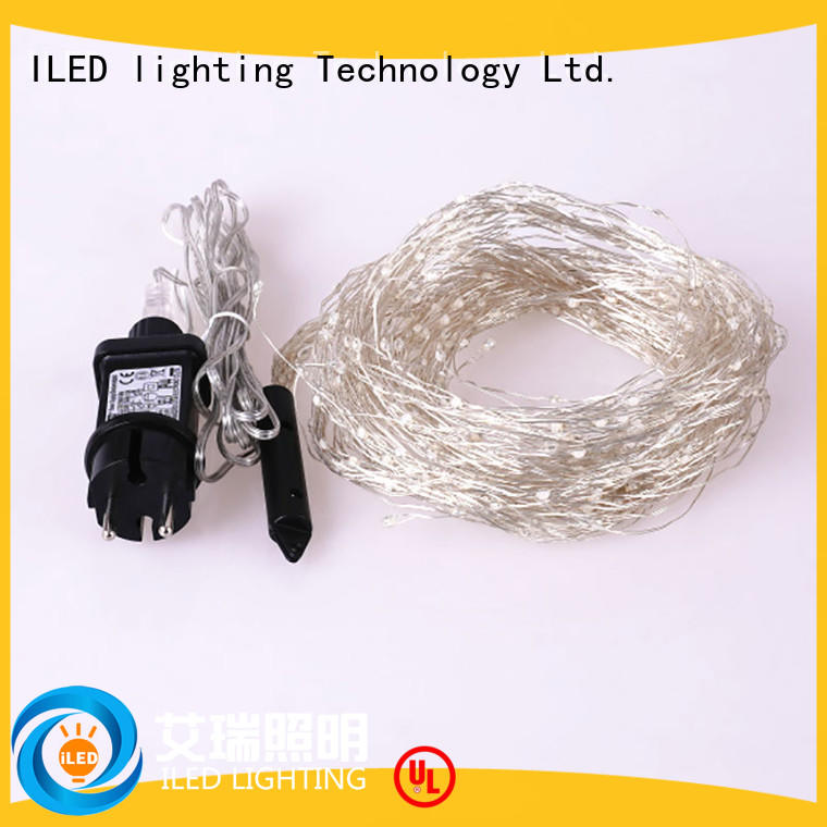ILED operated plug in wire fairy lights customized for tree