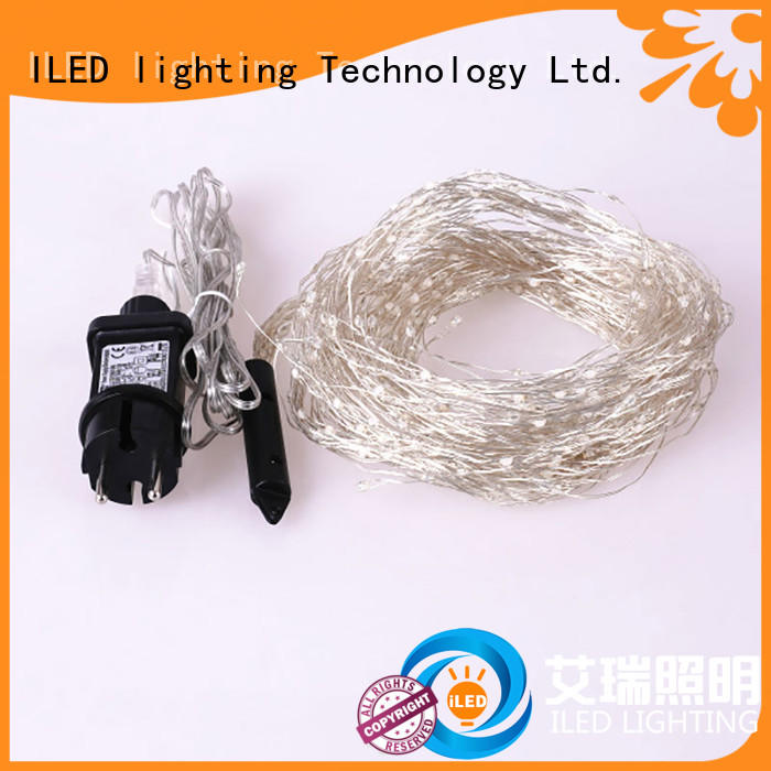 ILED operated copper wire lights plug in for weddings