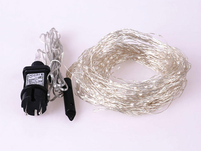 white plug in wire fairy lights lamp for weddings-1