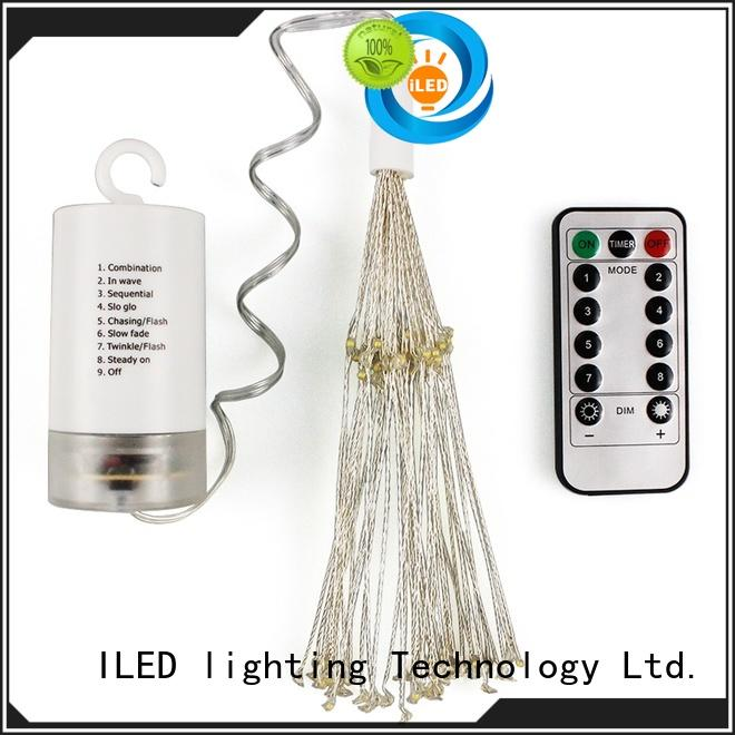 ILED powered battery operated fairy lights lamp for outdoor