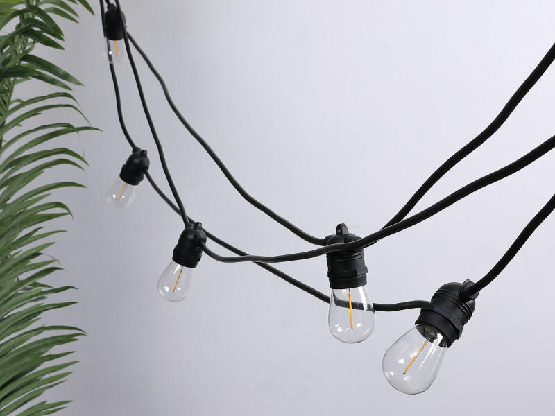 ILED solar festoon lights supplier for pergola