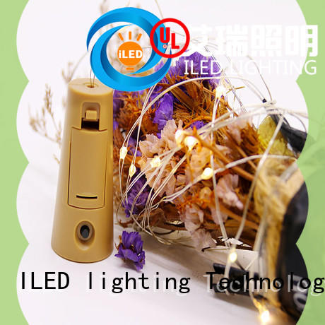 ILED waterproof battery operated wire lights manufacturer for outdoor