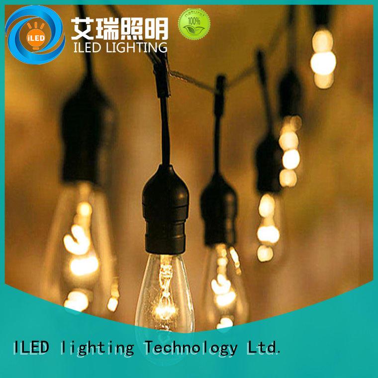 patio light bulb string lights sockets for garden ILED