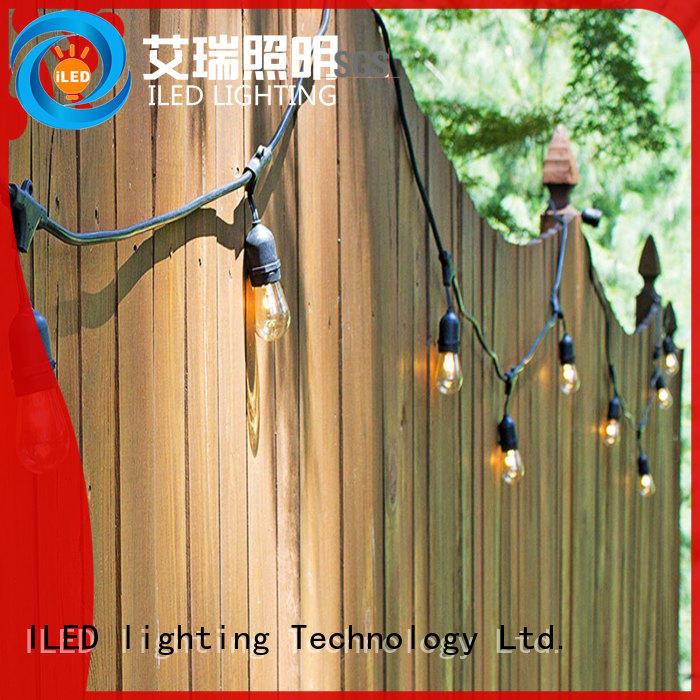 gathering backyard string lights ILED