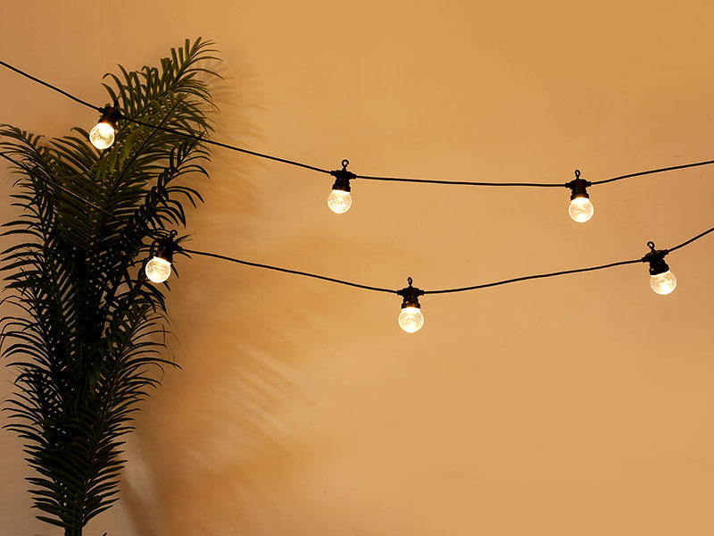 white festoon lights wedding design for festival