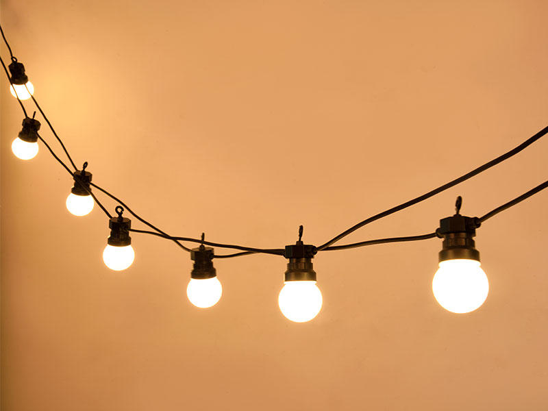 commercial festoon lighting wire for wedding ILED