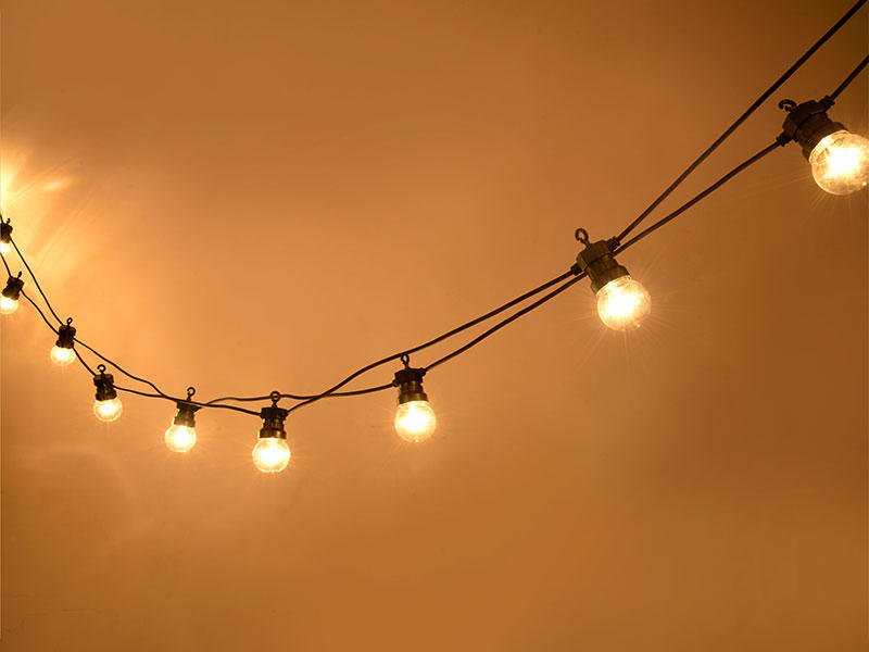 output led cafe string lights lamp for patio ILED