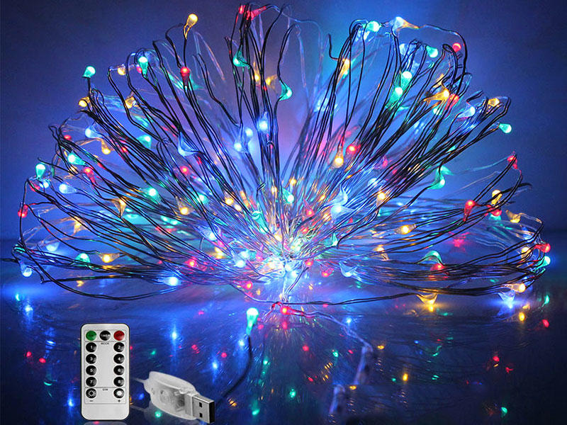 USB Copper String Light 10M 100LEDs Remote Control Fairy decoration Lamp
