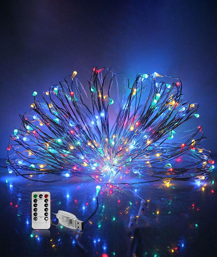 remote copper christmas lights manufacturer for decoration-3