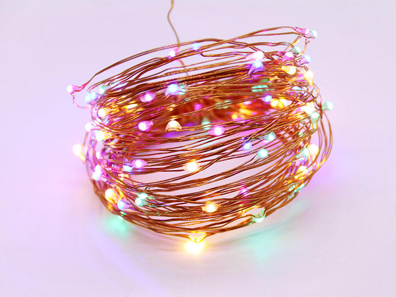 starry copper string lights for wedding ILED