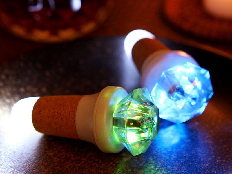 Novel USB Night Light Diamond Shape Bottle Cork Lamp