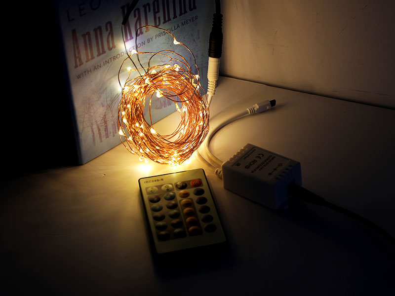 white plug in copper wire lights customized for tree-1
