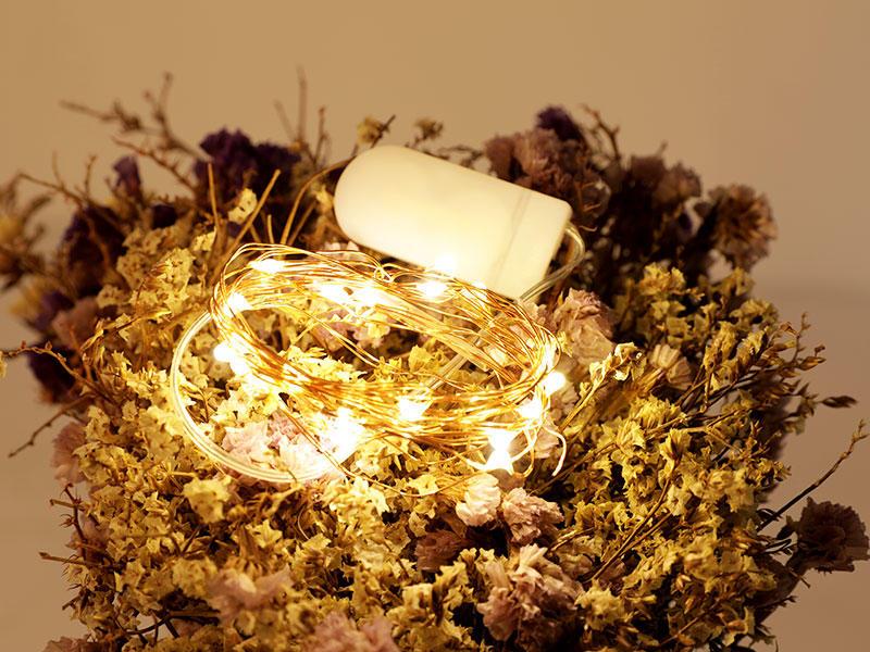 Fairy Lights String Led Moon Lights 2M Starry Firefly Lights for DIY Costume Wedding