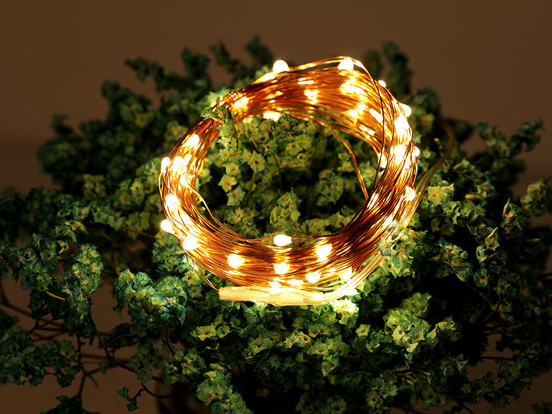 Led Strings Copper Wire 3XAA Battery Operated Christmas Wedding Party Decoration LED String Fairy Lights