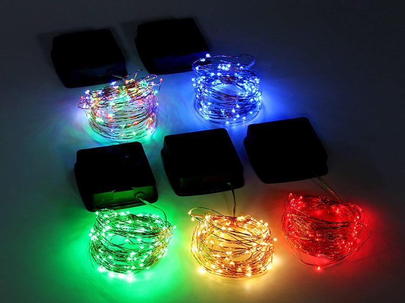 Solar Power Copper Fairy String 10M Light Warm White Patio Garden Christmas Decorative