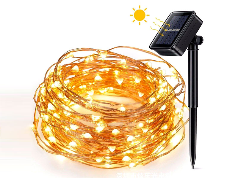 ILED solar copper wire string lights supplier for household-2