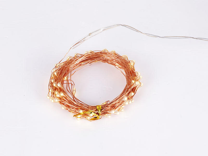 ILED white solar copper wire string lights manufacturer for household