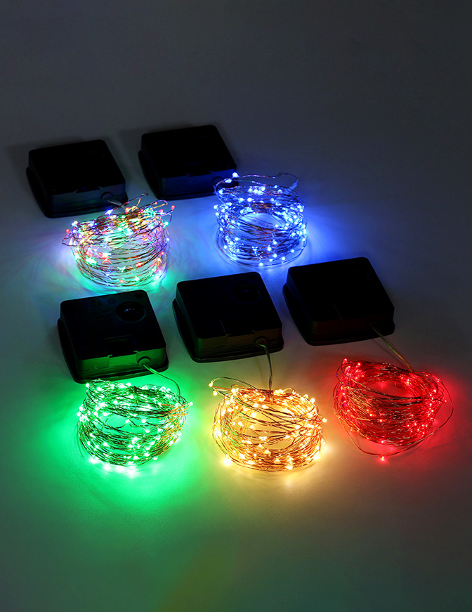 ILED solar copper wire string lights supplier for household-3