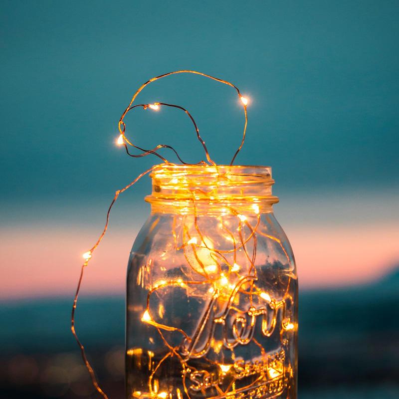 Copper wire led twinkle light,Thecopperwirestringlightlikethetwinklingstarsinthesky.