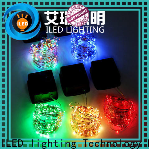 ILED solar copper wire string lights supplier for household