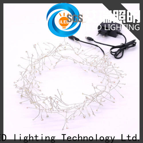 ILED operated plug in wire fairy lights manufacturer for tree