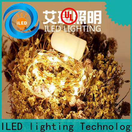 ILED waterproof battery operated outdoor christmas lights manufacturer for bistro