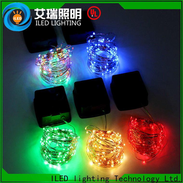 ILED solar copper wire string lights manufacturer for garden