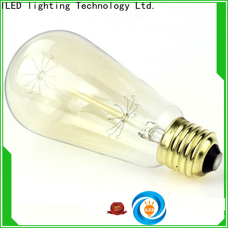 antique edison style light bulbs customized for cafe