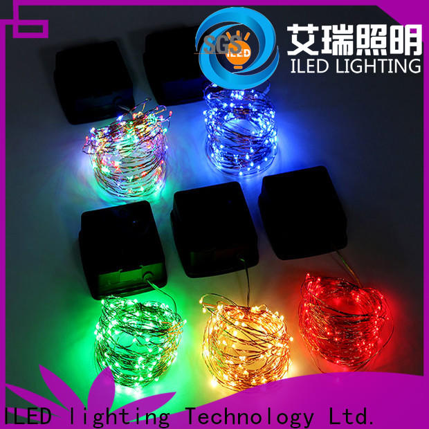fairy solar copper wire string lights design for christmas