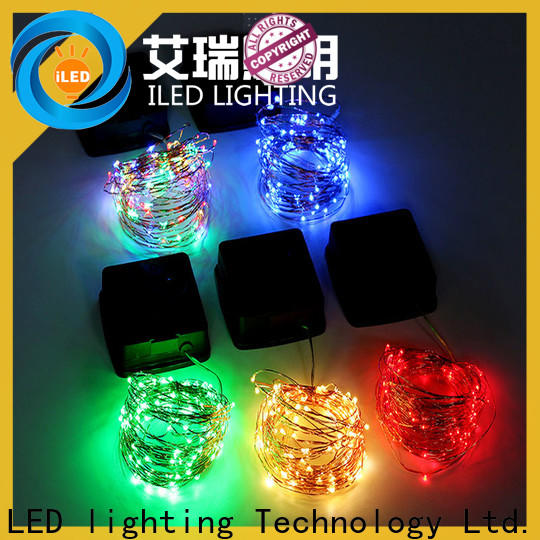 ILED solar copper wire string lights manufacturer for patio