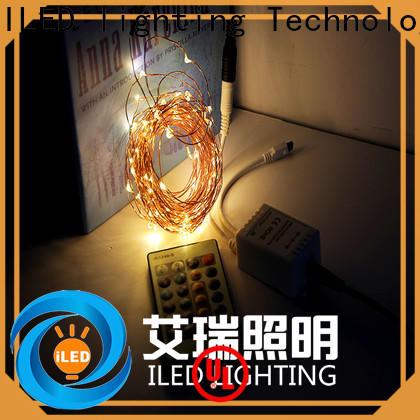 ILED operated plug in wire fairy lights supplier for bedroom