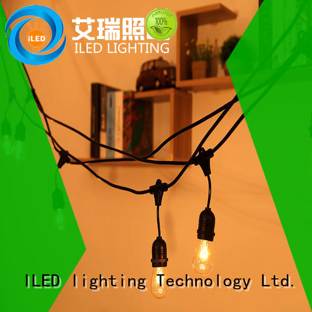 ILED Brand wedding 48ft plug in string light festival factory