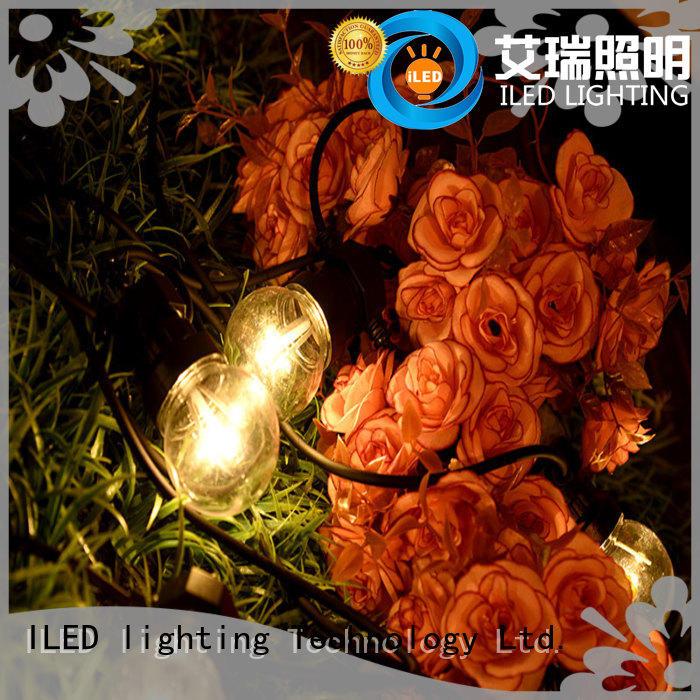ILED standard led cafe string lights manufacturer for outdoor
