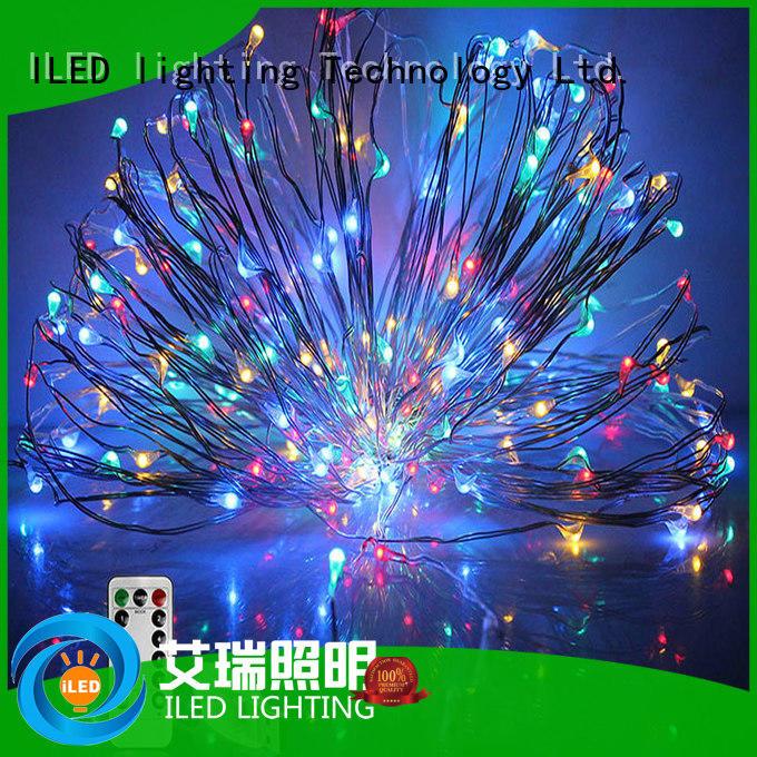 remote led copper string lights design for wedding